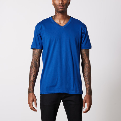The Better Basic V-Neck // Royal Blue (XS)
