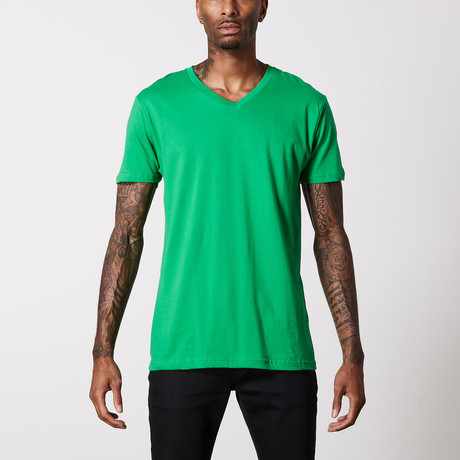 The Better Basic V-Neck // Kelly Green (XS)
