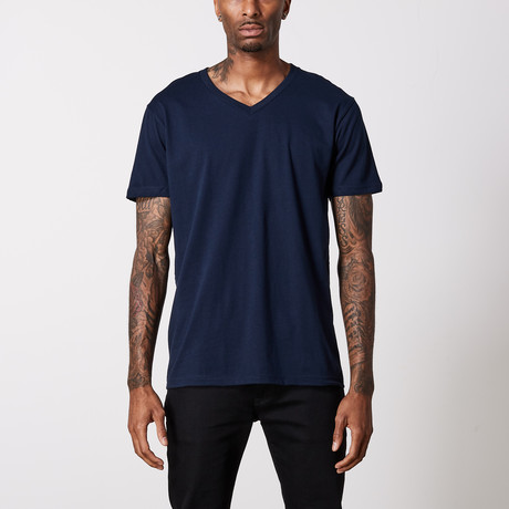 The Better Basic V-Neck // Midnight Navy (XS)