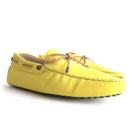 Suede Gommini Loafers // Yellow (UK: 7)