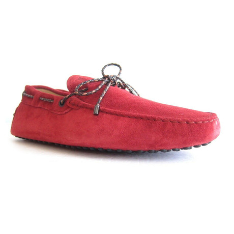 Suede Gommini Loafers // Red (UK: 7)