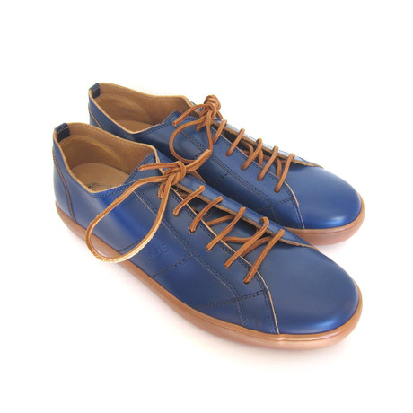 Sportivo Basso Leather Sneakers // Blue (UK: 7)