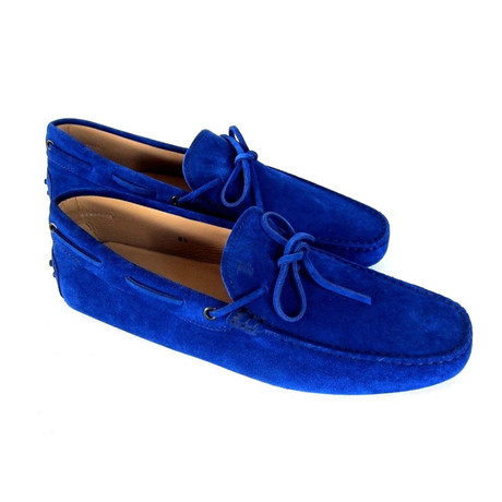 Suede Loafers // Royal Blue (UK: 7)