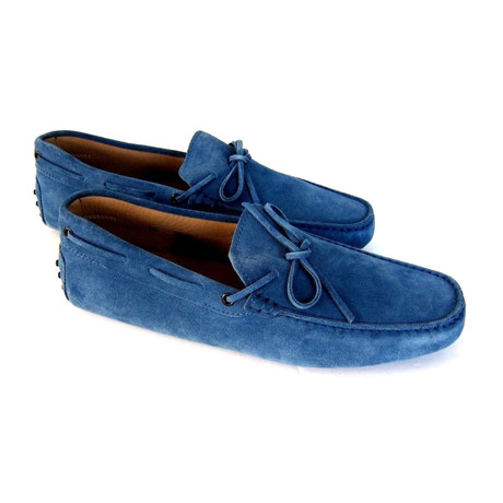 Blue Jeans Suede Loafers // Turquoise (UK: 7)