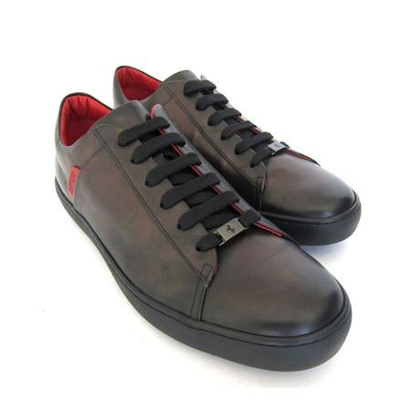 Allacciato Leather Sneakers // Brown (UK: 7)