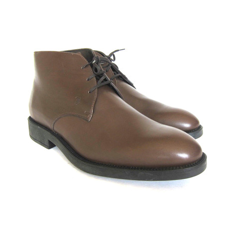 Polacco Leather Ankle Boots // Dark Brown (UK: 7)