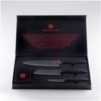 Black Ceramic 3-Piece Knife Set