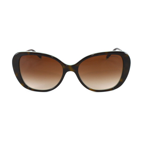 Tiffany & Co. // Women's TF4156 Sunglasses // Havana + Blue