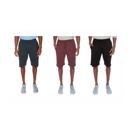 Super Soft Lounge Short // Navy + Cranberry + Black // Pack of 3 (S)
