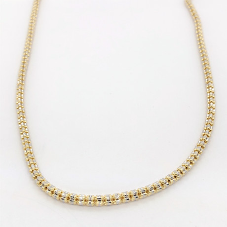 "14K Gold Ice Chain Necklace // 3.5mm (18"")"