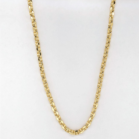 "14K Gold Oval Mariner Chain Necklace // 4.5mm (18"")"
