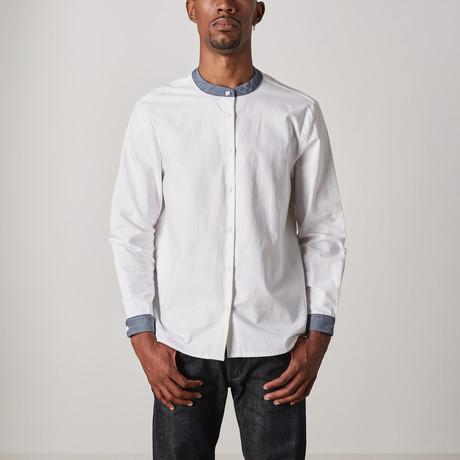 Darwin Shirt // White + Denim (XXS)