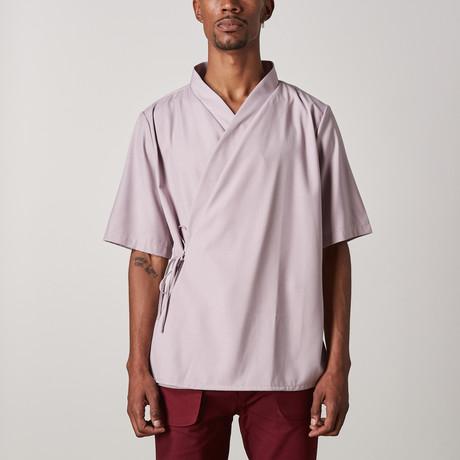 Grayson Wrap Shirt // Lilac (XXS)