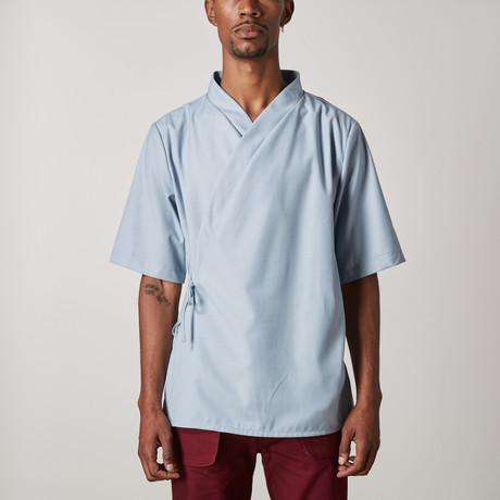 Grayson Wrap Shirt // Light Blue (XXS)