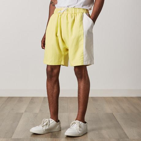 Griff Shorts // Yellow + White (XXS)