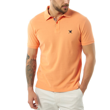 Solid Short Sleeve Polo // Orange (S)