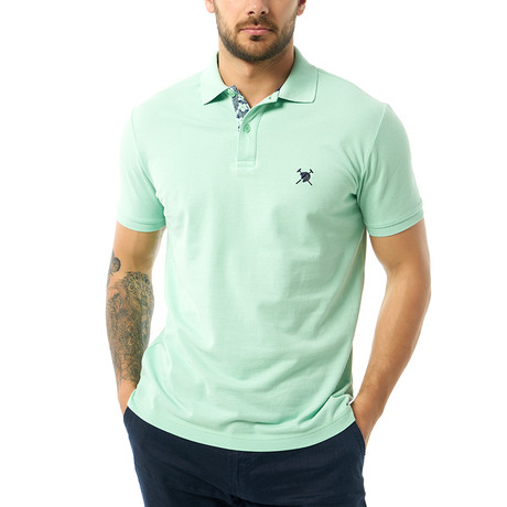 Solid Short Sleeve Polo // Mint (XS)