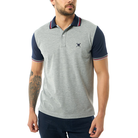 Contrast Short Sleeve Polo // Gray Melange (S)