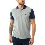 Contrast Short Sleeve Polo // Gray Melange (XL)