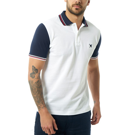 Contrast Short Sleeve Polo // White (S)