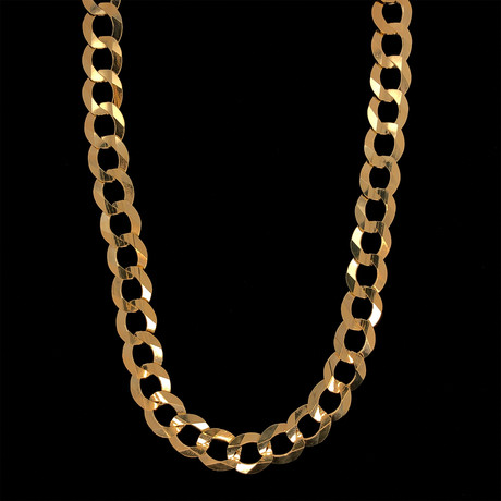 "10K Gold Cuban Chain Necklace // 9.5mm (24"")"