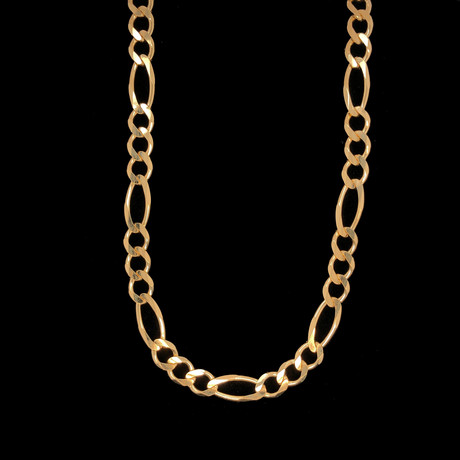"10K Gold Figaro Chain Necklace // 6.5mm (22"")"