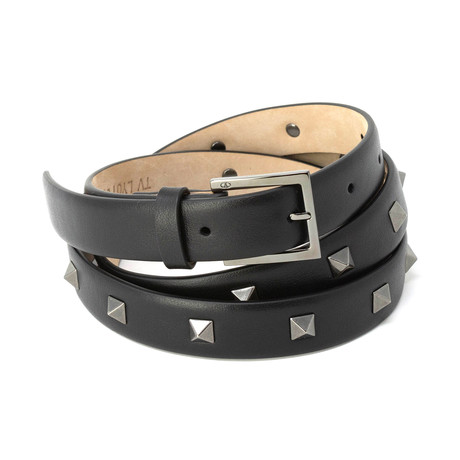 Valentino // Studded Leather Belt // Black (85)