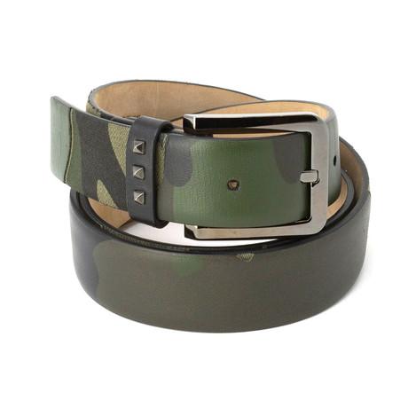Valentino // Smooth Leather Belt // Camo (85)