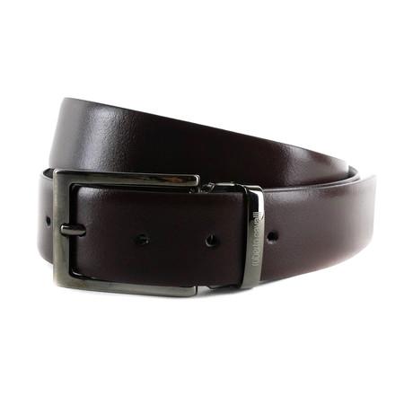 Roberto Cavalli // Smooth Leather Belt // Black (85)