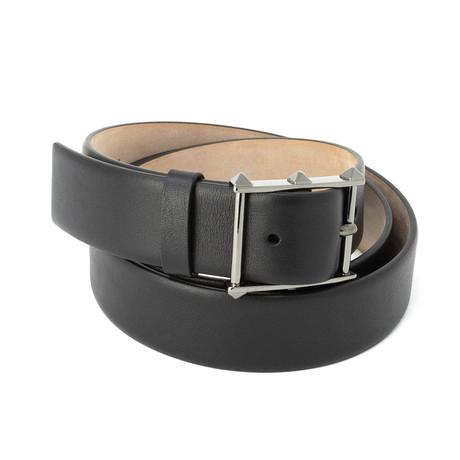 Valentino // Smooth Leather Belt // Black (85)