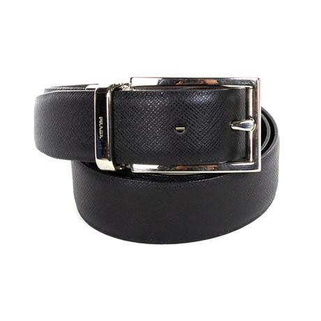 Prada // Saffiano Leather Belt // Black (85)