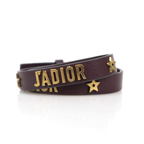 Leather Two Loop Bracelet // Brown
