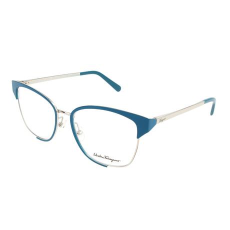 Women's SF2157 Frames // Light Gold + Blue