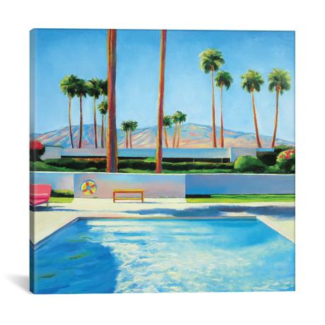 "Palm Springs Pool // Ieva Baklane (18""W x 18""H x 0.75""D)"