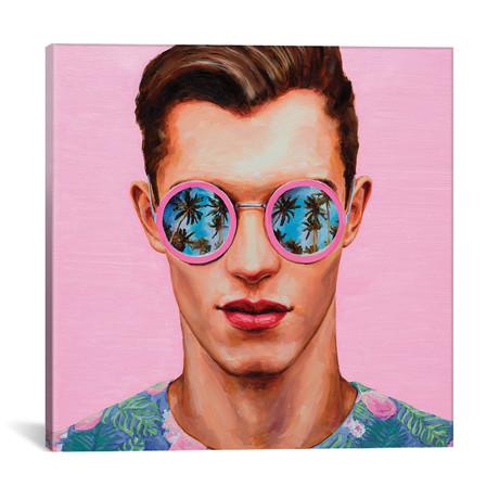 "Pink Sunglasses // Oleksandr Balbyshev (18""W x 18""H x 0.75""D)"
