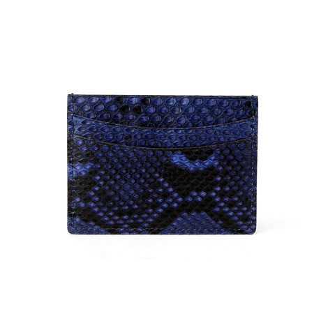 The Serpent Slim Card Wallet (Serpent Blue)