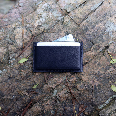 The Minimalist Slim Card Wallet (Black)