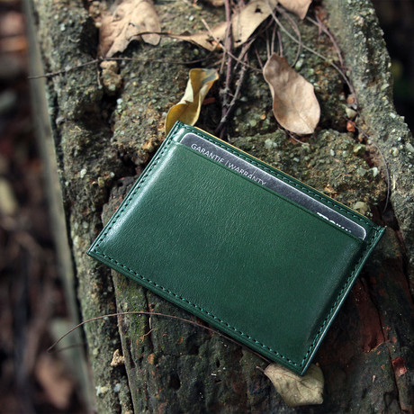 Wall Street RFID Card Wallet (Lucky Green)