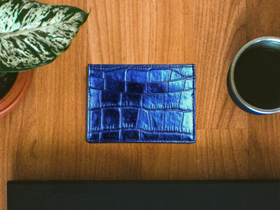 Croco_Slim_Card_Wallet_Electric_Blue
