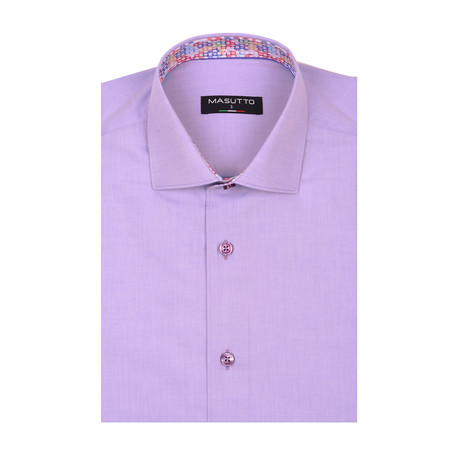 Lagos Short Sleeve Shirt // Purple (XS)