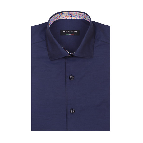 Lagos Short Sleeve Shirt // Navy (XS)