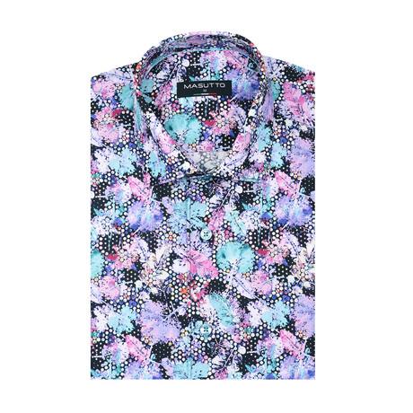 River Short Sleeve Shirt // Purple (XS)