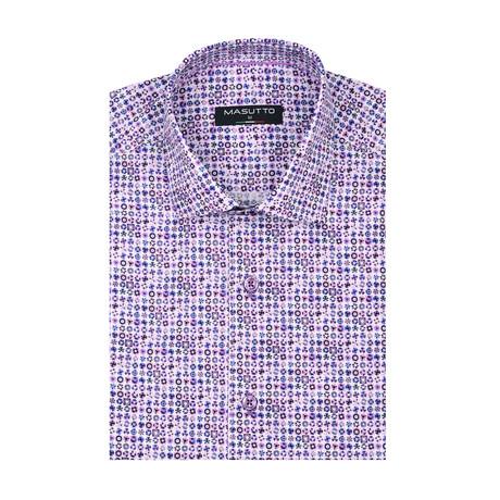 Roma Short Sleeve Shirt // Purple (XS)