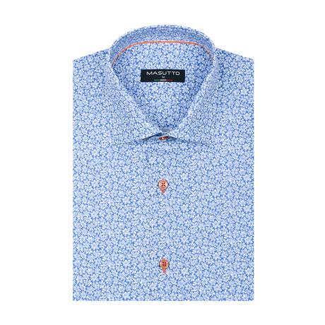 Sergio Short Sleeve Shirt // Blue (XS)