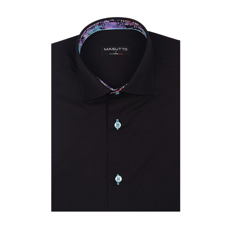 Lagos Short Sleeve Shirt // Black (XS)