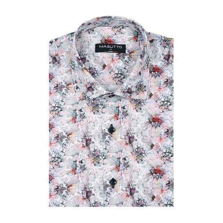 Paris Short Sleeve Shirt // Multicolor (XS)
