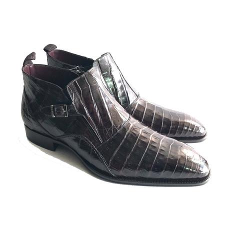 Mezlan // Alligator Skin Bene Boots // Brown (US: 8)