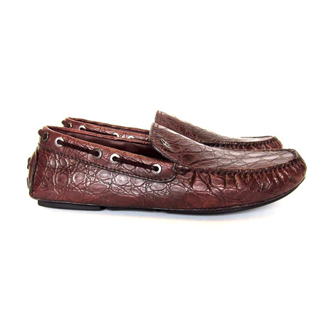 Brioni // Biarritz Alligator Loafers // Brown (US: 8)