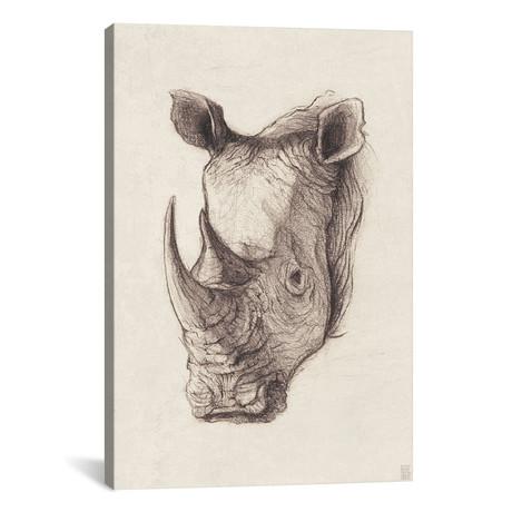 """Rhinoceros I (18""""W x 26""""H x 0.75""""D)"""
