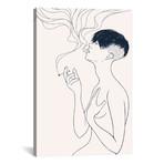 """Smoking by Mike Koubou (18""""W x 26""""H x 0.75""""D)"""